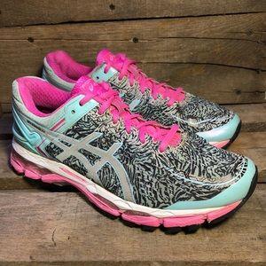 Asics Gel Kayano 22 Teal Running Shoes